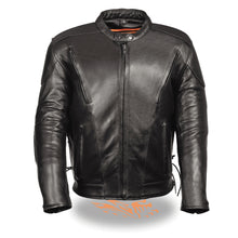 Men's Side Lace Vented Scooter Jacket - HighwayLeather