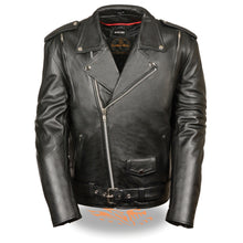 Men's Vented M/C jacket w/ Side Lace - HighwayLeather
