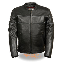 Men's Side Stretch Jacket w/ Reflective Piping - HighwayLeather