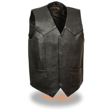 Men's Classic Snap Front Vest w/ Gun Pockets - HighwayLeather