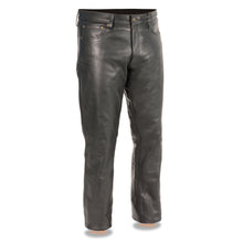 Men's Classic 5 Pocket Leather Pants - highwayleather