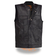 Youth Size Open Neck Snap/Zip Front Club Style Vest - HighwayLeather