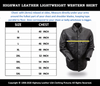 Leather motorcycle lightweight shirt - western biker club soft leather shirt - HighwayLeather