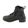 Kids Lace to Toe Side Zipper Entry Biker Boot - HighwayLeather