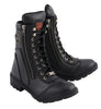 "Women's 9"" Lace to Toe Boot W/ Side Zipper Entry - HighwayLeather"