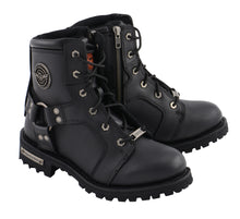 "Women's 8"" Lace to Toe Harness Boot W/ Side Zipper Entry - HighwayLeather"