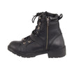Women's Waterproof Side Buckle Leather Boot w/ Plain Toe - HighwayLeather