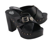 Women Cross Strap Open Toe Clog - highwayleather