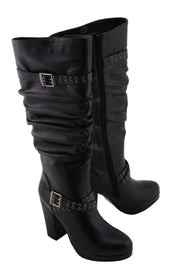 Women Platform Boot w/ Slouch Shaft - HighwayLeather