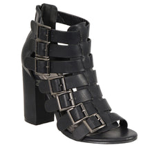 Ladies Strappy Sandal w/ Block Heel - HighwayLeather
