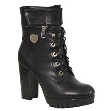 Ladies Lace to Toe Boot w/ Double Height Option - highwayleather