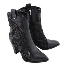 Ladies Western Style Boot w/ Studded Bling - HighwayLeather