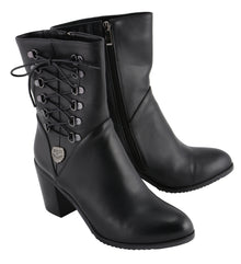Women Lace Side Riding Boot - HighwayLeather
