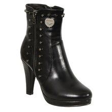 Ladies Spiked Side Zipper Entry High Heel Boot - HighwayLeather