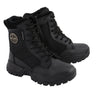 Women Leather Tactical Boot w/ Side Zipper - HighwayLeather