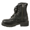 Men's Buckled and Lace to Toe Boot w/ Side Zipper Entry - HighwayLeather