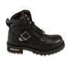 Mens 6 Inch Side Buckle Boot-Wide - HighwayLeather