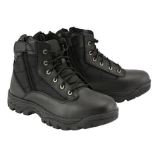 "Mens 6"" Leather Tactical Lace Front Boot with Side Zipper Entry - HighwayLeather"