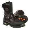 Men's Strap Boot w/ Reflective Piping & Gear Shift Protection - HighwayLeather