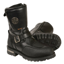 "Men's 9"" Waterproof Boot w/ Reflective Piping & Gear Shift Protection - highwayleather"