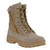 "Men's 9"" Leather Tactical Boot w/ Side Zipper - HighwayLeather"