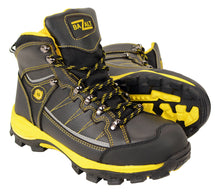 BAZALT-Men's Black & Yellow Water & Frost Proof Leather Boots-BLK/YELLOW-7 - highwayleather