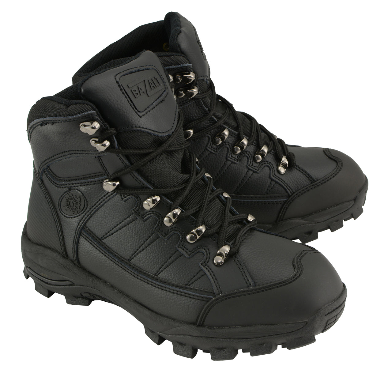 BAZALT-MBM9129ST-Men's Black Water & Frost Proof Leather Boots W/ Composite Toe-BLK-7 - HighwayLeather