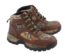 Men's Waterproof Brown Hiking Boot w/ Mossy Oak® Print - HighwayLeather