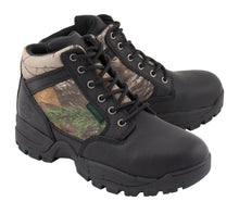 Men's Waterproof Black Work Boot w/ Mossy Oak® Print - highwayleather
