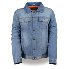 Men's Classic Denim Jean Pocket Jacket w/ Gun Pockets - HighwayLeather