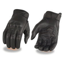 Men's Leather Gloves w/ Rubberized Knuckles & Gel Palm - HighwayLeather