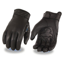Men's Leather Gloves with Gel Palm, Cool Tec Technology - Touch Screen Fingers - HighwayLeather