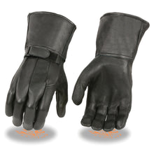 Men's Light Lined Gauntlet Gloves w/ Wrist Strap - HighwayLeather