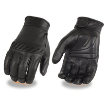 Men's Premium Leather Perforated Glove w/ Flex Knuckles – Touch Screen Fingers - HighwayLeather