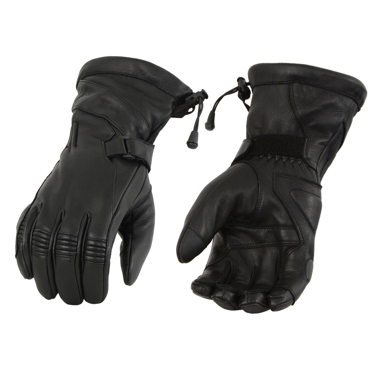 Men's Deerskin Leather Gauntlet Gloves w/ Draw String - HighwayLeather