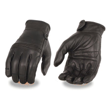 Men's Premium Leather Riding Glove w/ Gel Pam & Flex Knuckles - HighwayLeather