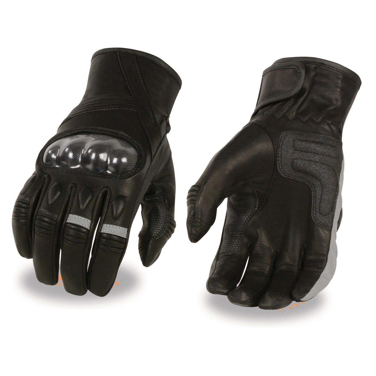 Men's Leather Racer Glove w/ Hard Knuckles & Elasticized Fingers - HighwayLeather