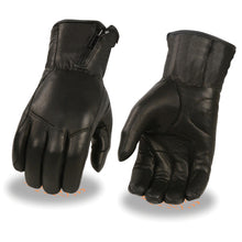 Men's Premium Leather Long Wristed Glove w/ Zipper Top - HighwayLeather