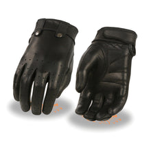 Ladies Leather Driving Glove w/ Perforated Fingers, Gel Palm - HighwayLeather