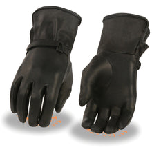 Ladies Light Lined Leather Gauntlet Glove - highwayleather