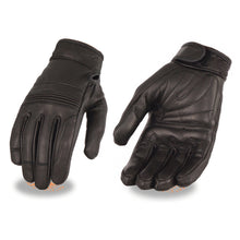 Ladies Premium Leather Riding Glove w/ Gel Pam & Flex Knuckles - highwayleather