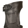 Men's Fully Lined Naked Cowhide Chap - HighwayLeather