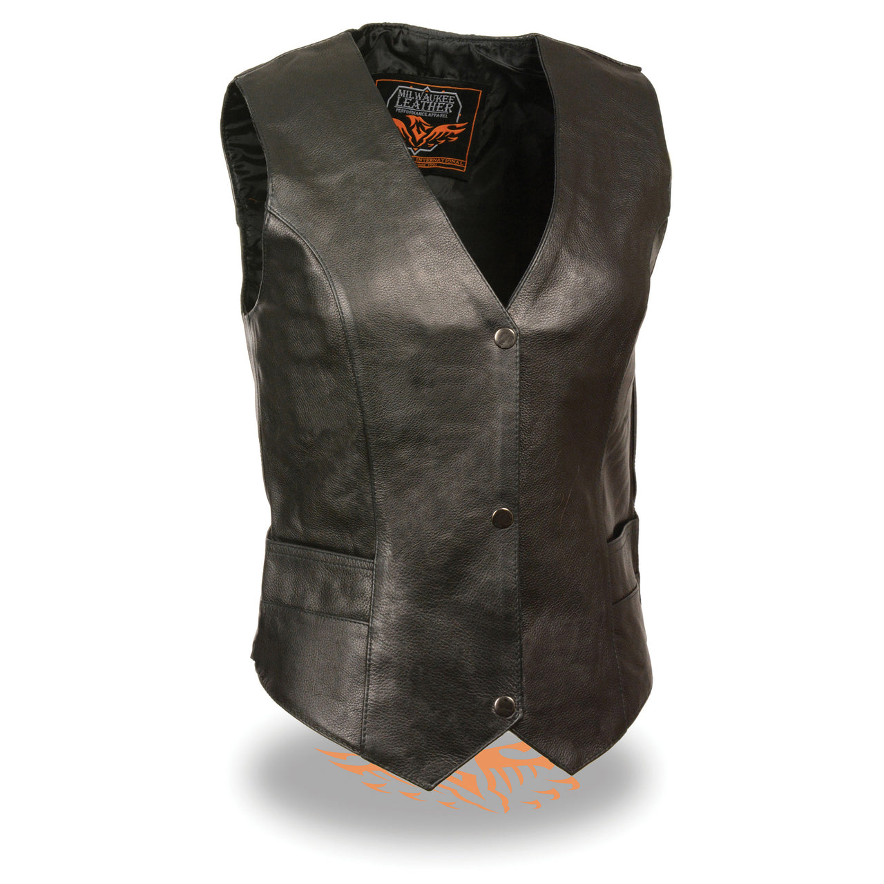 Women's Classic Snap Front Vest - HighwayLeather