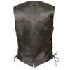 Ladies Classic Side Lace Vest - HighwayLeather