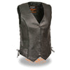 Ladies Braided Side Lace Vest - highwayleather