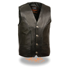 Men's Classic Vest w/ Buffalo Nickel Snaps - highwayleather
