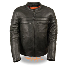 Men's Sporty Scooter Crossover Jacket - HighwayLeather