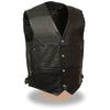 Men's Deep Pocket Vest w/ Side Buckle - highwayleather