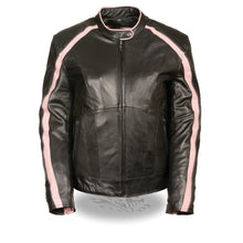 Ladies Jacket w/ Stud & Wings Detailing - HighwayLeather
