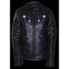 Women's Reflective Star Jacket w/ Rivet Detailing - HighwayLeather